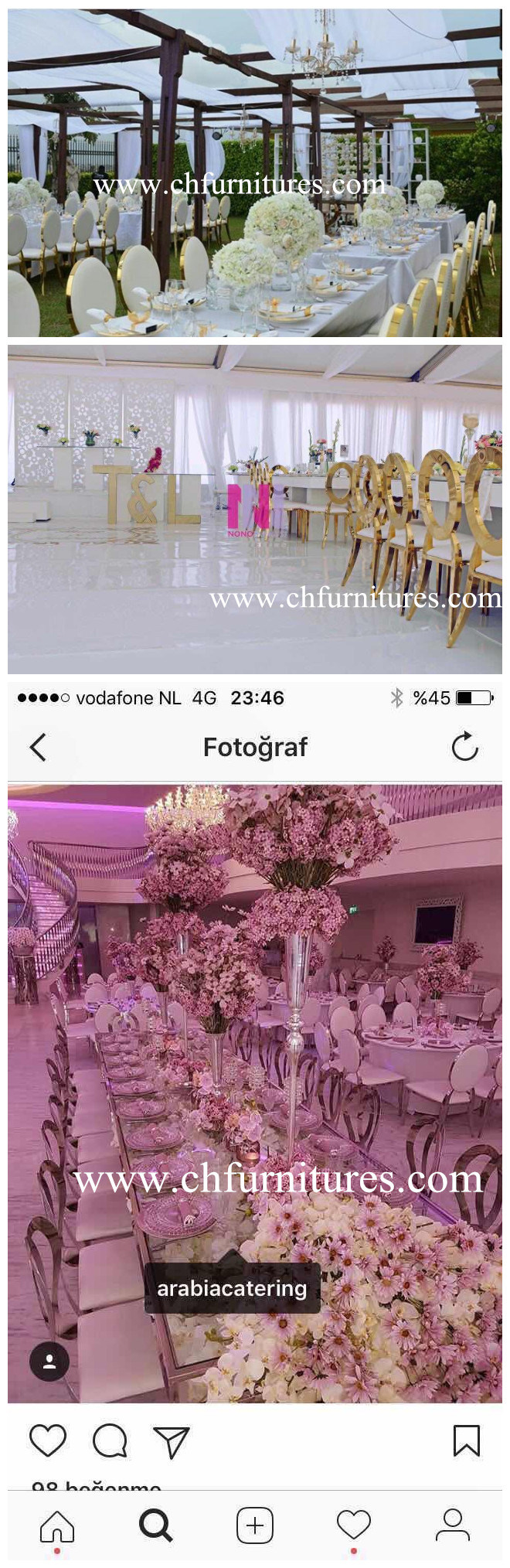 2017 New Design Modern Rental Silver Frame and White Leather Stacking Stainless Steel Chair for Banquet and Wedding and Event and Hotel Dining Room (YC-SS34)
