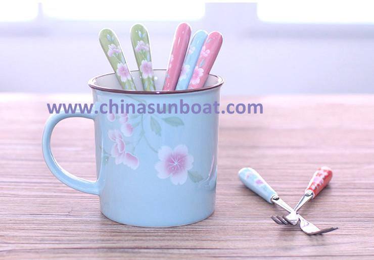 Sunboat Japanese Sakura Vintage Coffee Cup Milk Cup Enamel Cup Enamel Mug Cup