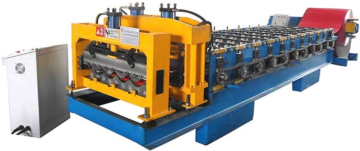 China Honor Glazed Tile Cold Roll Forming Machine From Fujian Trusty Manufacturer