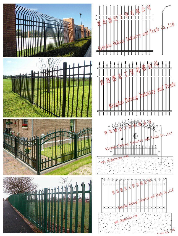 Custom Ornamental Wrought Iron Fencing/ Picket Fence