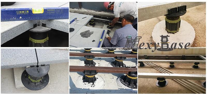 Heavy Loading Plastic Adjustable Pedestal for Raising Floor Pedestal