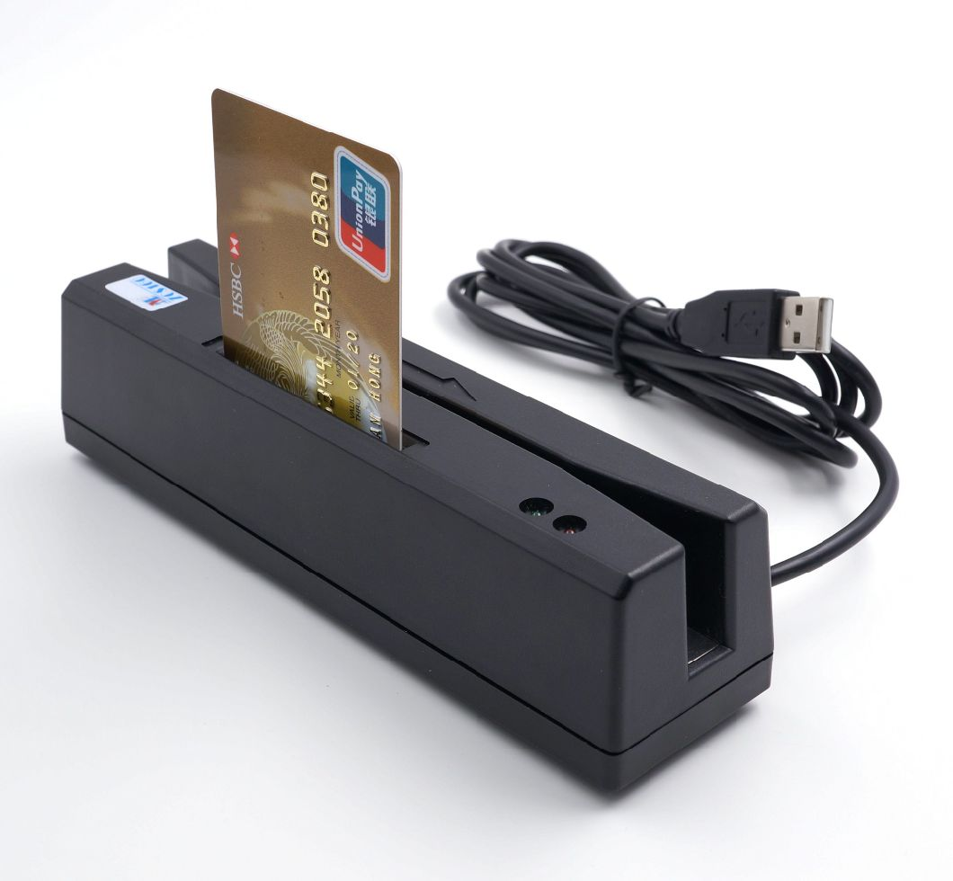 4-in-1 Tracks 3 Magnetic Stripe Card Reader EMV Cbip Card Reader and Writer Encoder with Free Software and Sdk