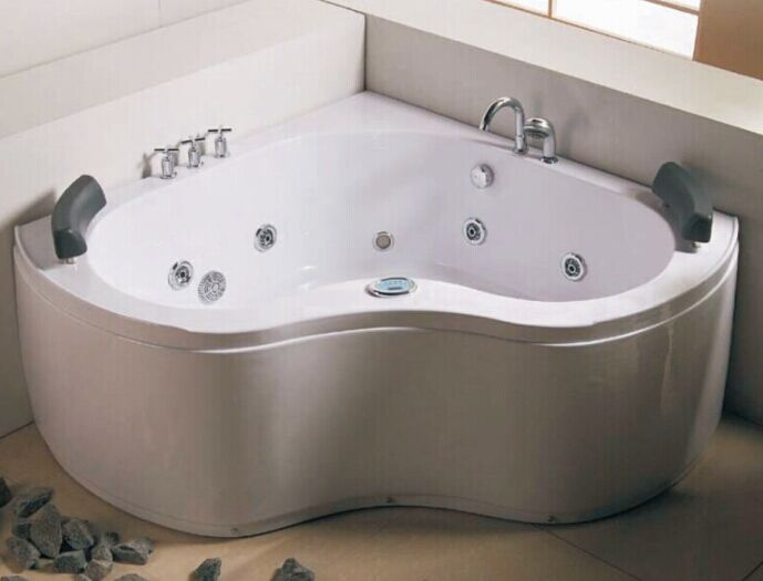 Corner Double People Jacuzzi Indoor Bathtub (CL-333)
