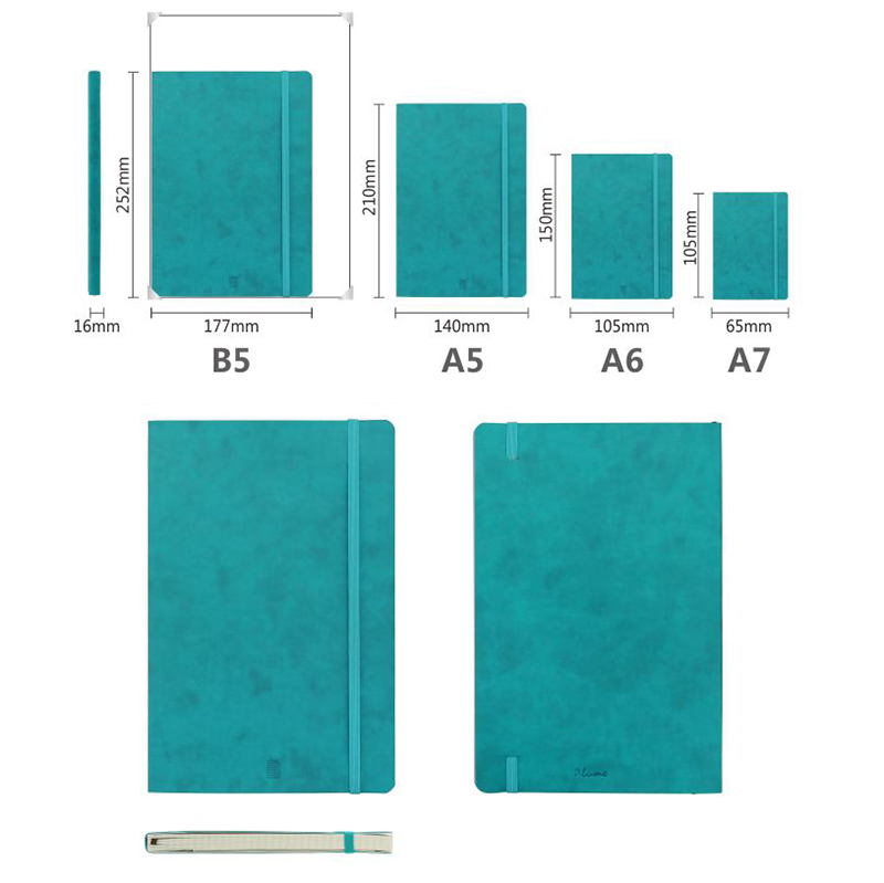 Customize PU/ PVC Leather Agenda Planner Notebooks