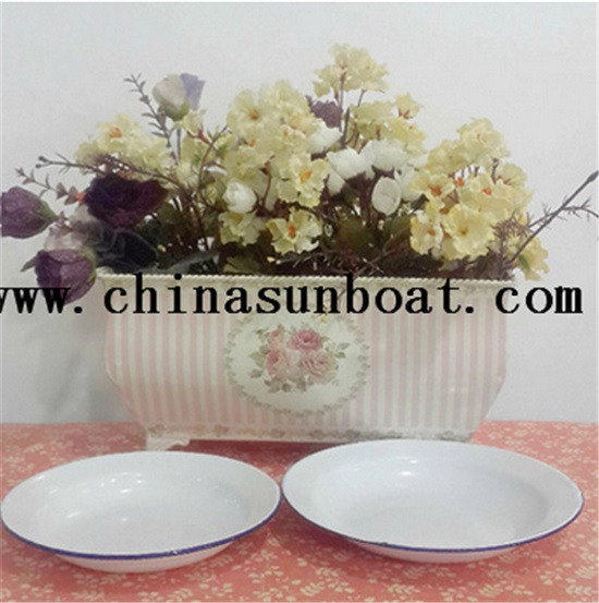 Enamel Simple Plate Food Tray