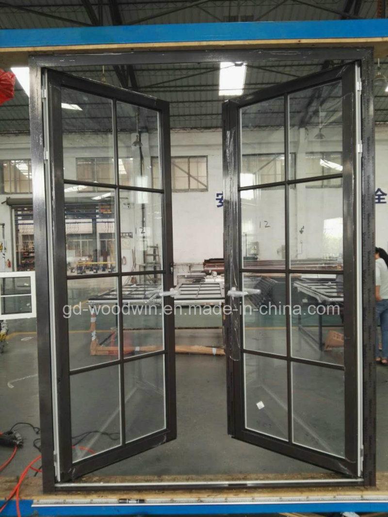 Aluminum Casement Door with Double Glazed