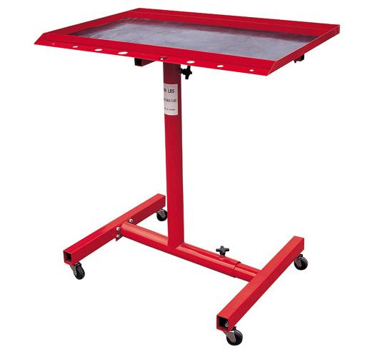 200lb Work Table Cart Adjustable Height W/Mat 4 Swivel Wheels