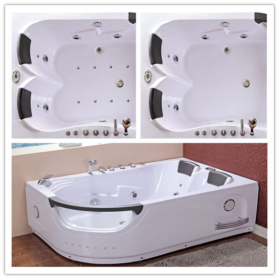 Massage Bathtub with LED Light (TLP-665 Computer Panel Control)
