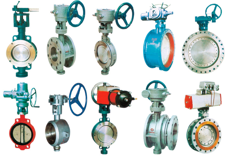 Dn150 Cast Iron Double Eccentric Butterfly Valve Stainless Steel