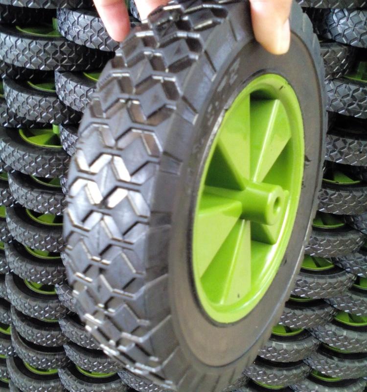 8X1.75 Solid Semi-Pneumatic Beach Wagon Cart Rubber Caster Wheel