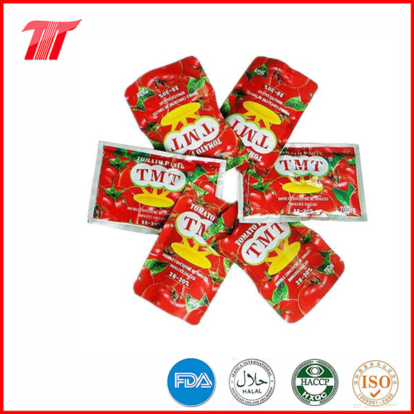 Organic Sachet Tomato Paste Fine Tom Brand for Dubai Market