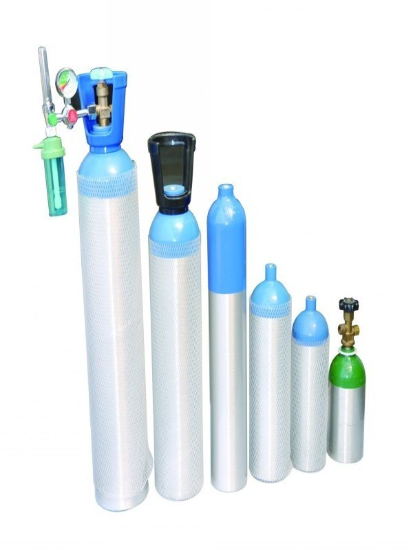 Portable Medical Mini Aluminum Oxygen Cylinder (2L)