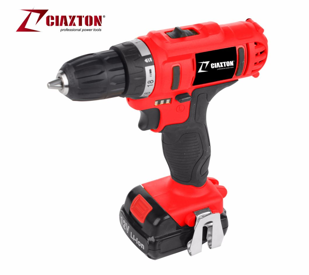 Lion- Cordless Drill/ Electric Drill/Screwdriver/10mm LED Light /Lion-Battery/Double Speed/CD5813