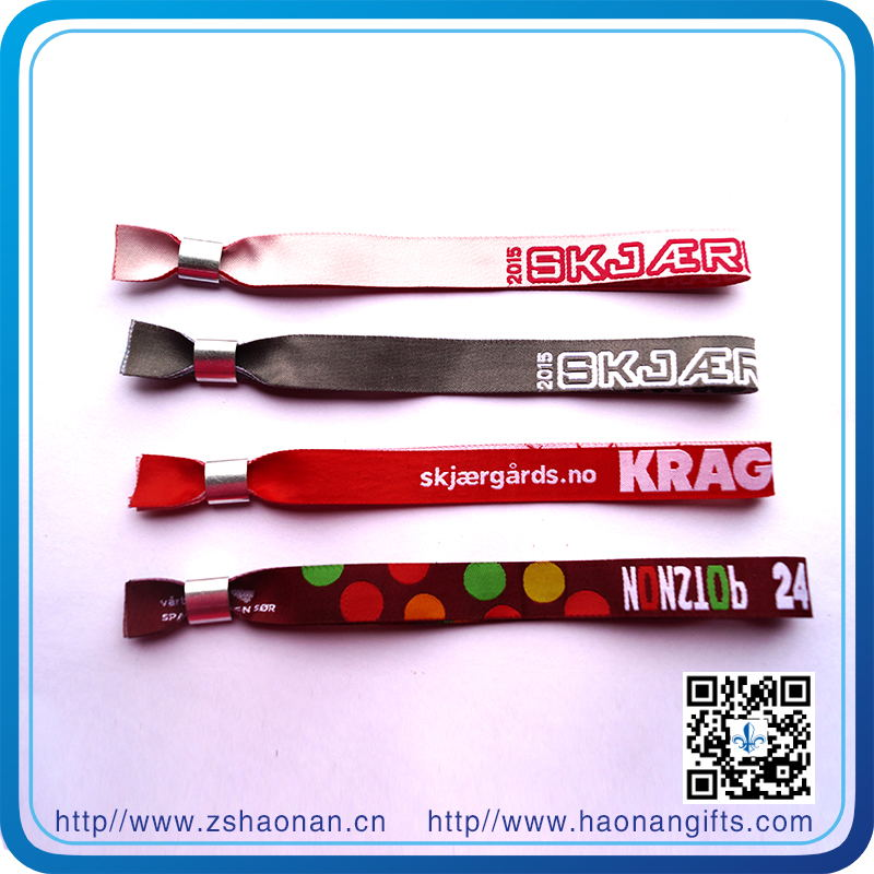 Wholesale Eco-Friendly Polyester RFID Woven Wristbands for Events