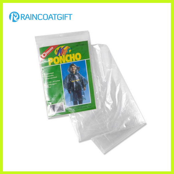 Disposable Kids PE Rain Poncho Rpe-042