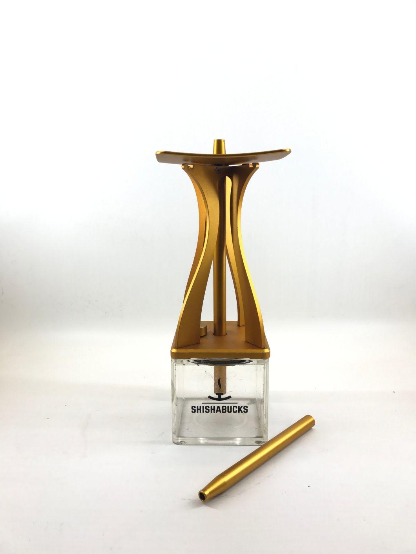 Shishabucks Style Top Quality Nargile Smoking Pipe Shisha Hookah Aluminum Acrylic Shisha Pipe