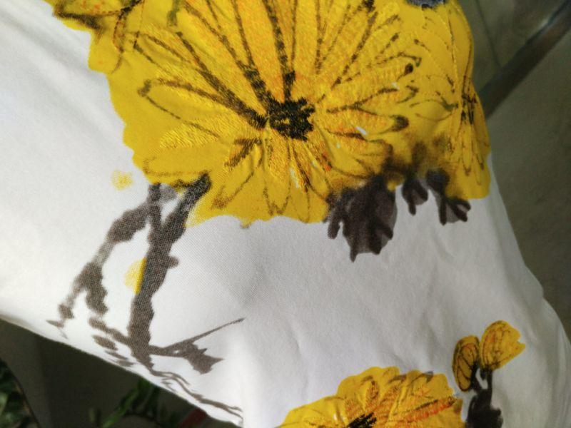 Summer Pure Chrysanthemum Printed Ladies Lovely T-Shirt