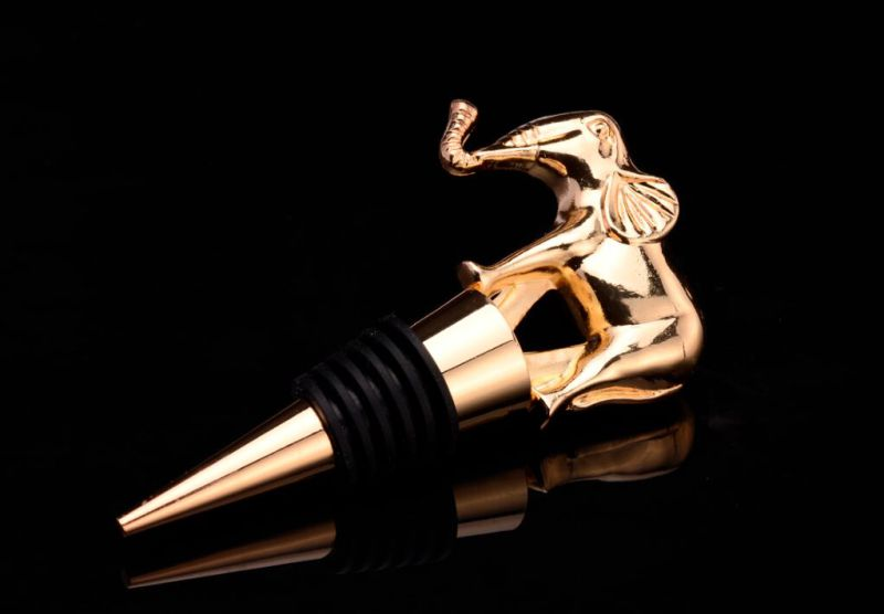 Eagle Shape Gold Plated Metal Wine Bottle Stopper (GZHY-BS-012)