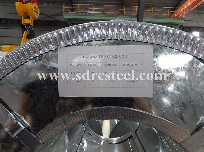 Dx51d+Z50-180 Hot-DIP Galvanized Steel Coil