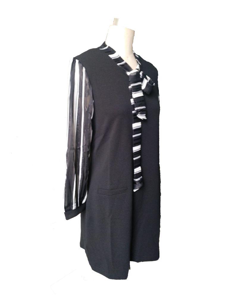 Spring Elegant Striped Shirt Ladies Dress