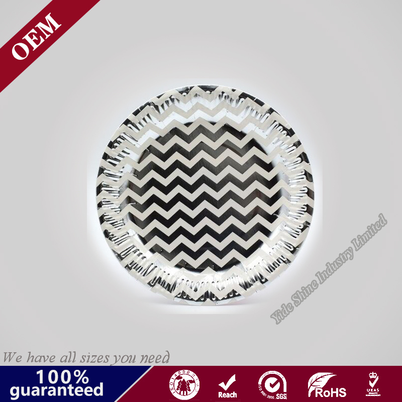 Wholesales Paper Plate Disposable Round Paper Plate Party Paper Plate