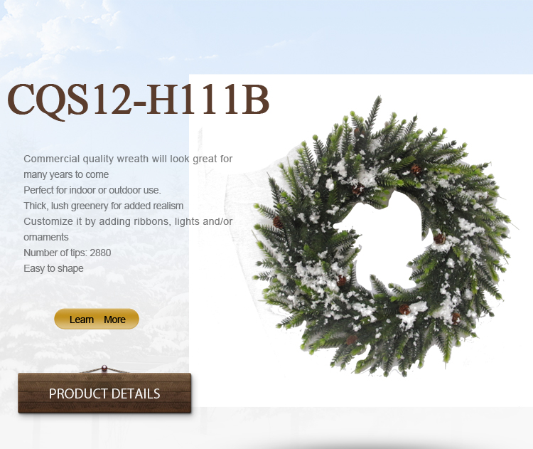 30- 48cm Wedding Decoration, Christmas Wreath, Christmas Decoration Wih Snow