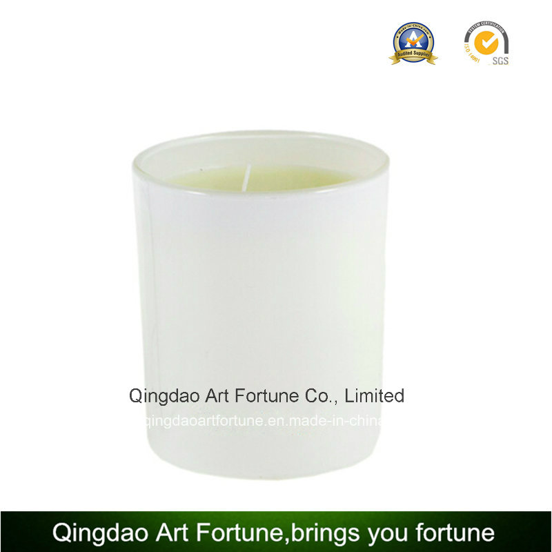 Hot Sale Glass Candle with Decoration and Pattern