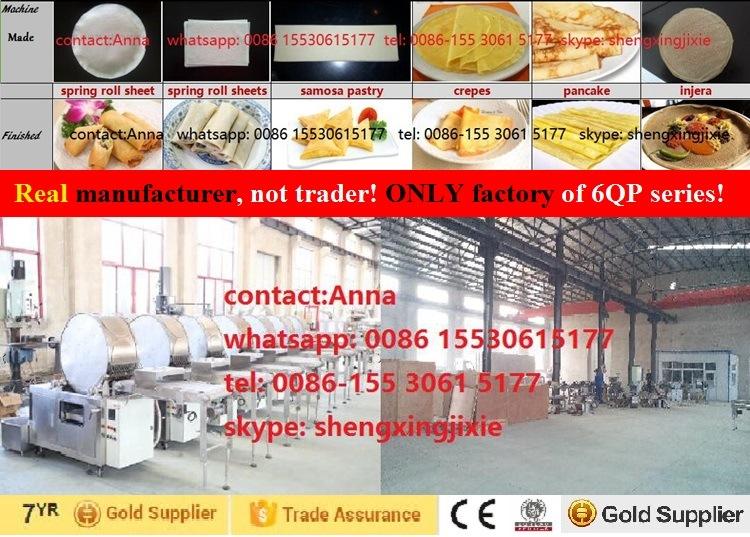 High Quality/Capacity Pancake Machine/ Thin Pancake Machinery/ Flat Pancake Machine (manufacturer)