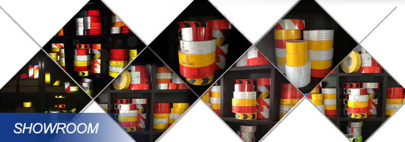 White Segmented Square Pattern Truck Reflective Tape for Vehicle (C5700-OW)