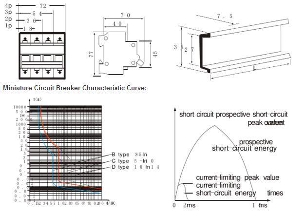 MCB C45 China Ce 1p Mini Circuit Breaker