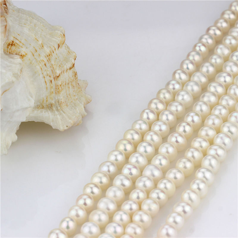 Hot Selling Freshwater Pearl Strand 8mm AA+ Near Round Chinese Pearl Strand
