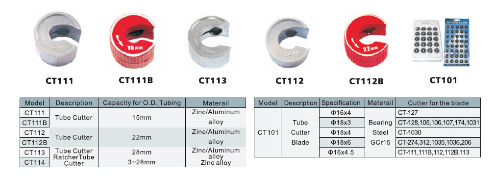 Copper Tube Cutter CT-107 for 1/4