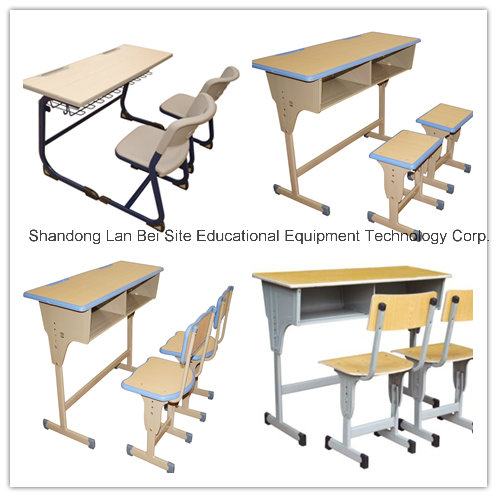Standard size of morden set up double student desk and chair from factory
