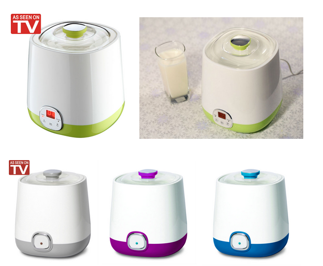 4 Cups and 4 Glass Jar Yogurt Maker