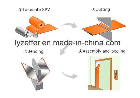Blue Transparent PE Film for Metal Plates' Surface