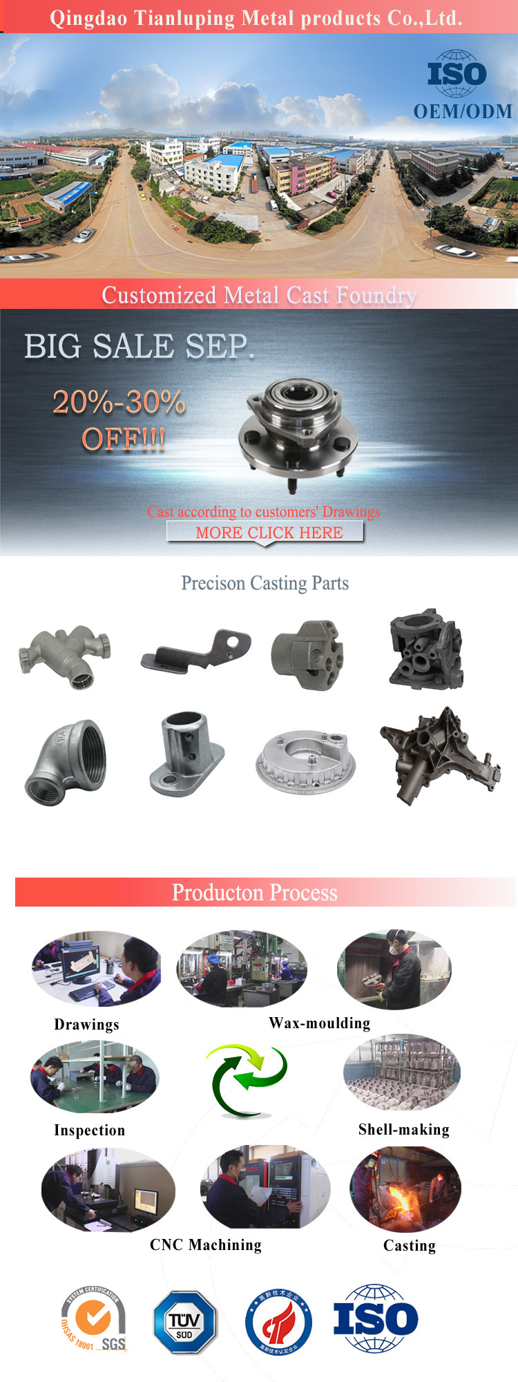 Stainless Steel Silicasol Investment Casting Impeller Precision Casting