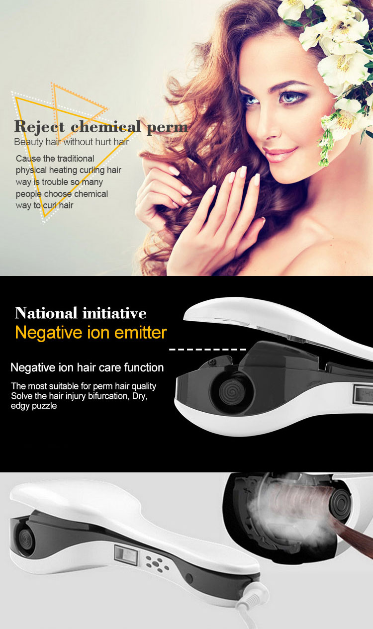 PRO Automatic Hair Curler LED Display