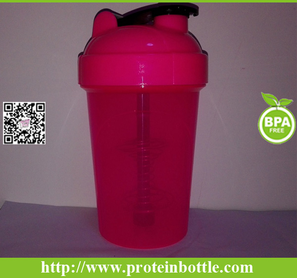 Brand New Plastic Shaker Bottle with Blender Wire Ball