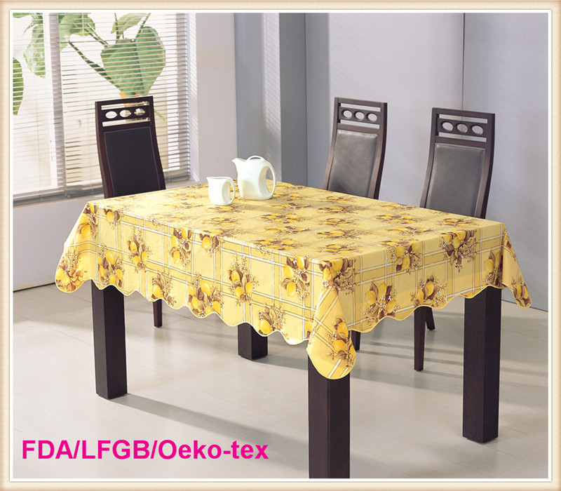 Dining PVC Table Cloths with Nonwoven Backing