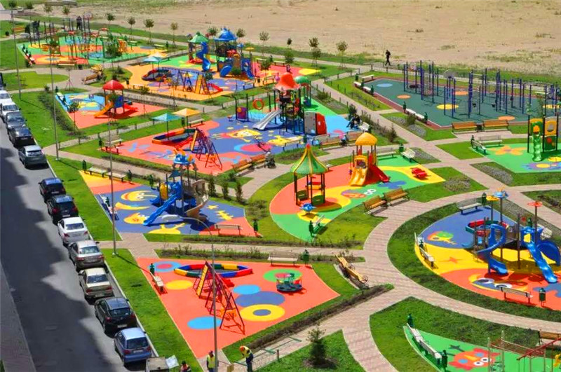 2015 Outdoor Playground Climbing and Slide
