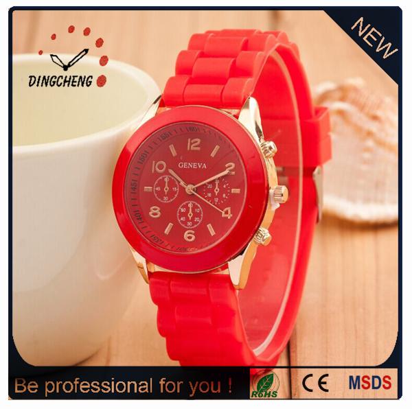 Custom Geneva Sport Silicone Watches for Women (DC-1020)