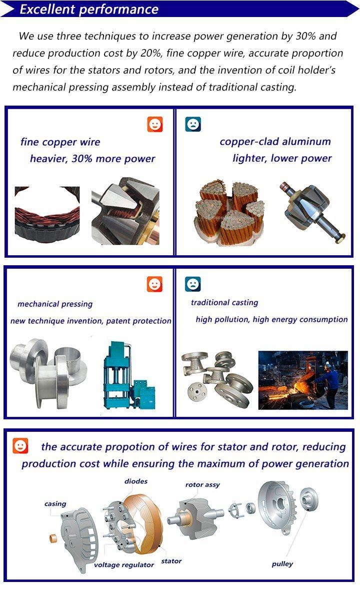Auto AC Alternators of Truck Diesel Engine Parts