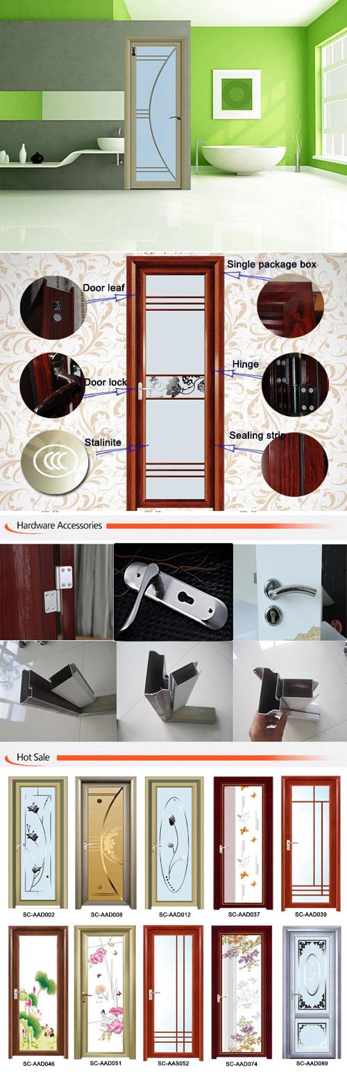 Aluminium Bathroom Doors with Blinds