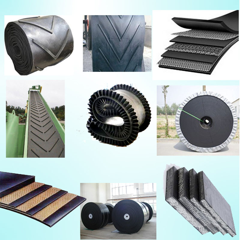 10mm Height Chevron Polyester Conveyor Belt for Hot Sale
