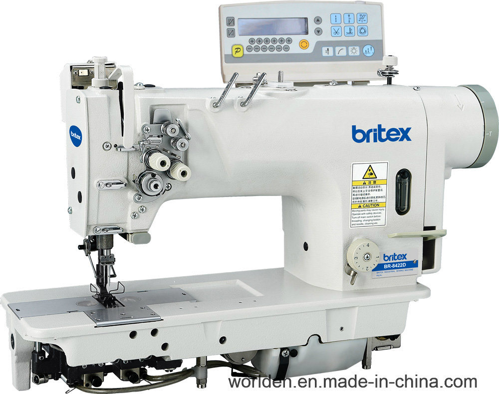 Br-8422D Electronic High-Speed Double Needle Lockstitch Sewing Machine with Direct Drive