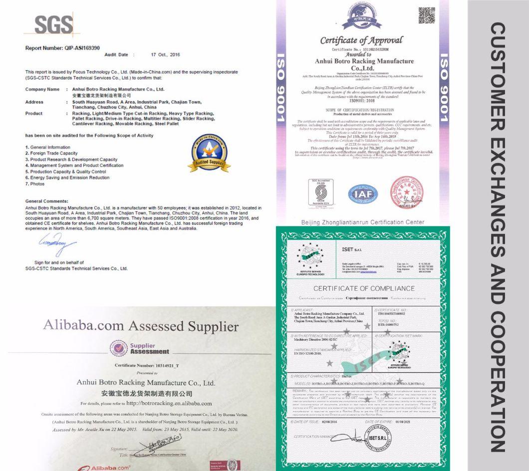 ISO9001 Certificate Angle Iron Shelf Rivet Rack Fancy Shelf