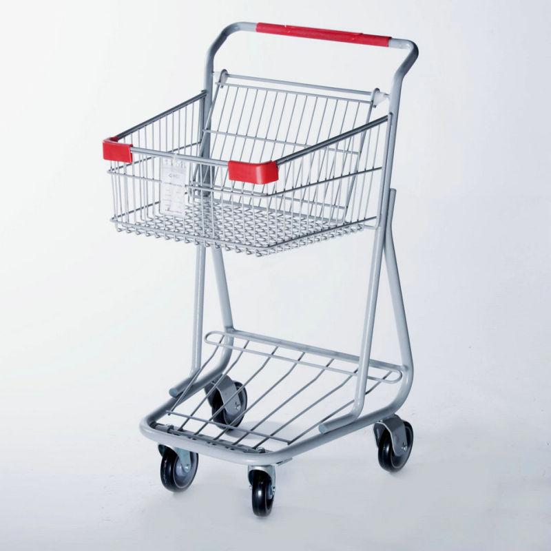 Double Basket Shopping Trolley