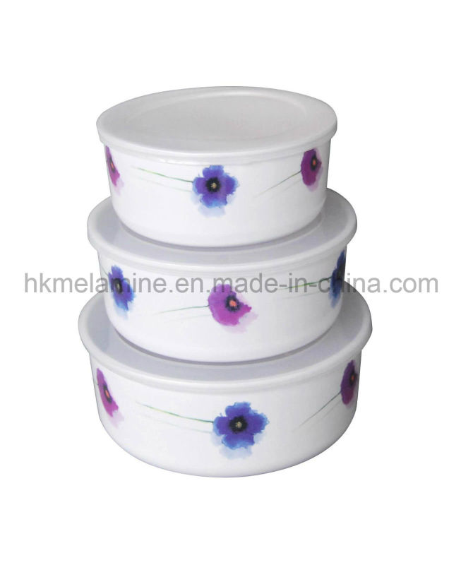 Melamine Storage Bowl Set with Lid (BW252)