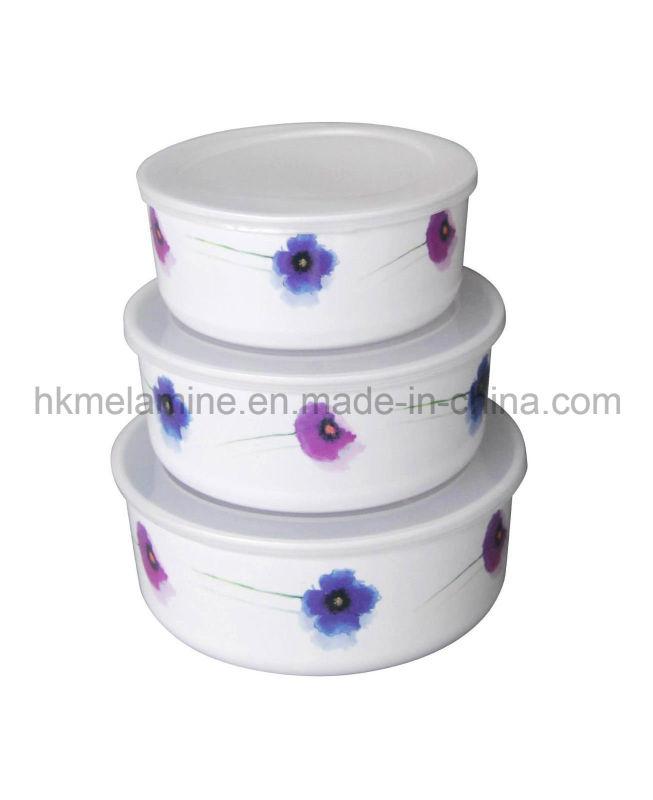 Melamine Storage Bowl Set with Lid (BW252)