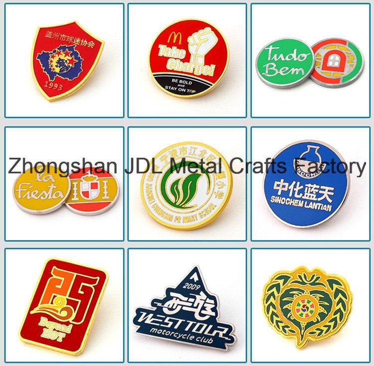 Gold Finish Zinc Alloy Metal Souvenir Annual Fastpitch Softball Badge Lapel Pin (230)